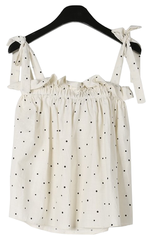 Sweet dot ribbon sleeveless