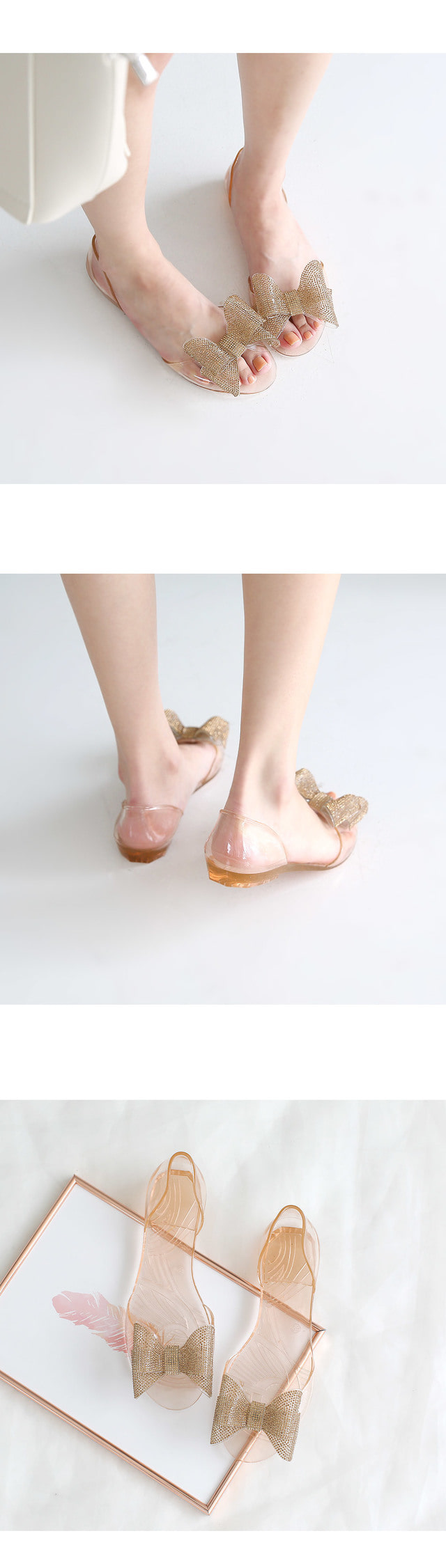 Curlins Jelly Flat Shoes 1.5cm