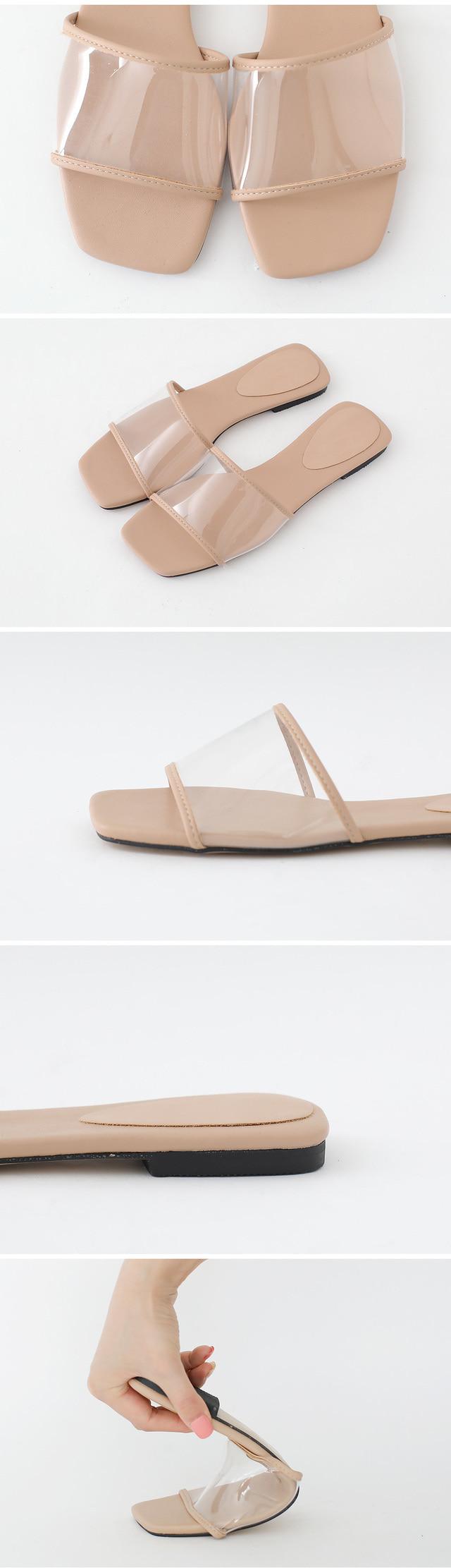 얼루어 PVC 투명 슬리퍼 1cm