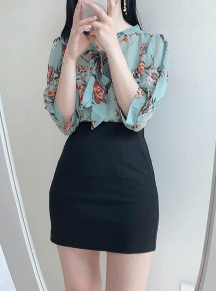 Thai flowers blouse