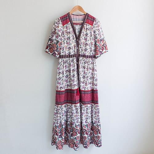 Masur ethnic tassel flower long dress