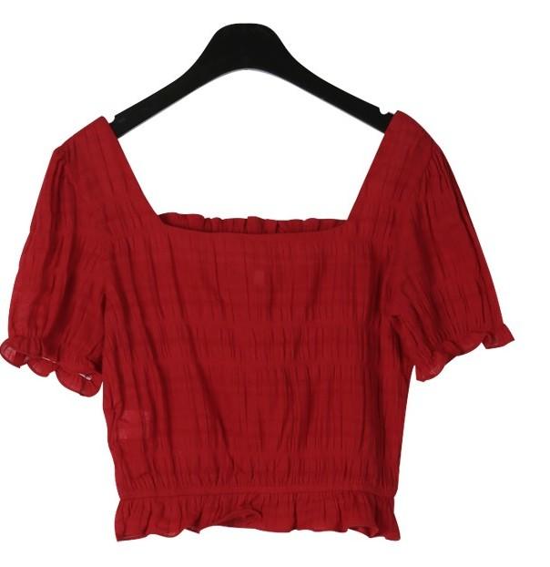 Sensual frill blouse
