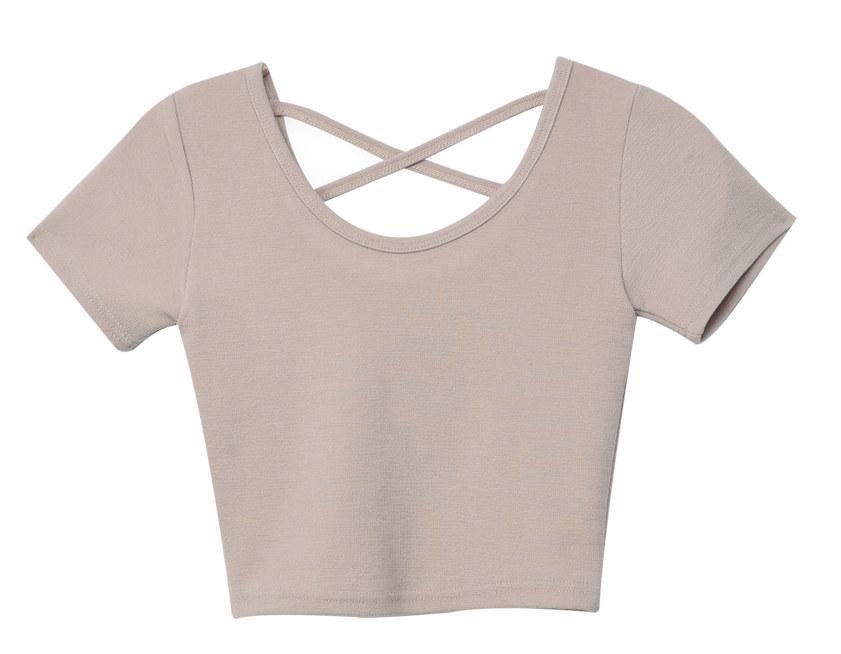 스트랩 크롭 티셔츠