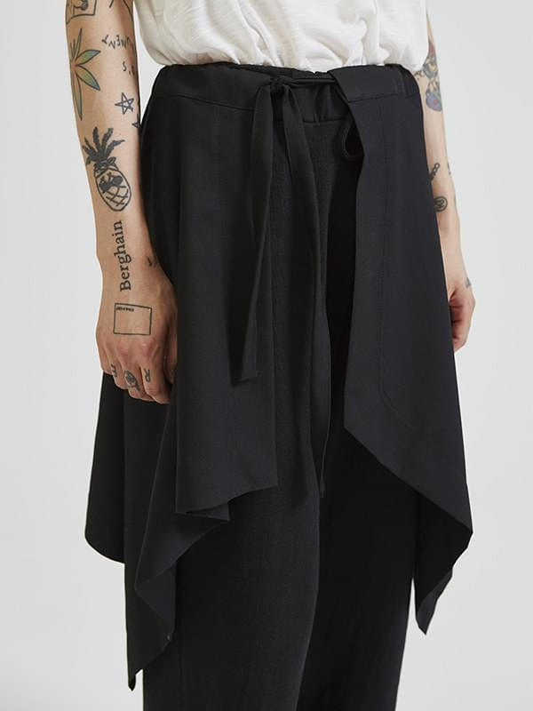 layered wrap skirt (2 color) - UNISEX