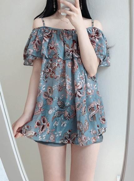Ethnic string off shoulder blouse