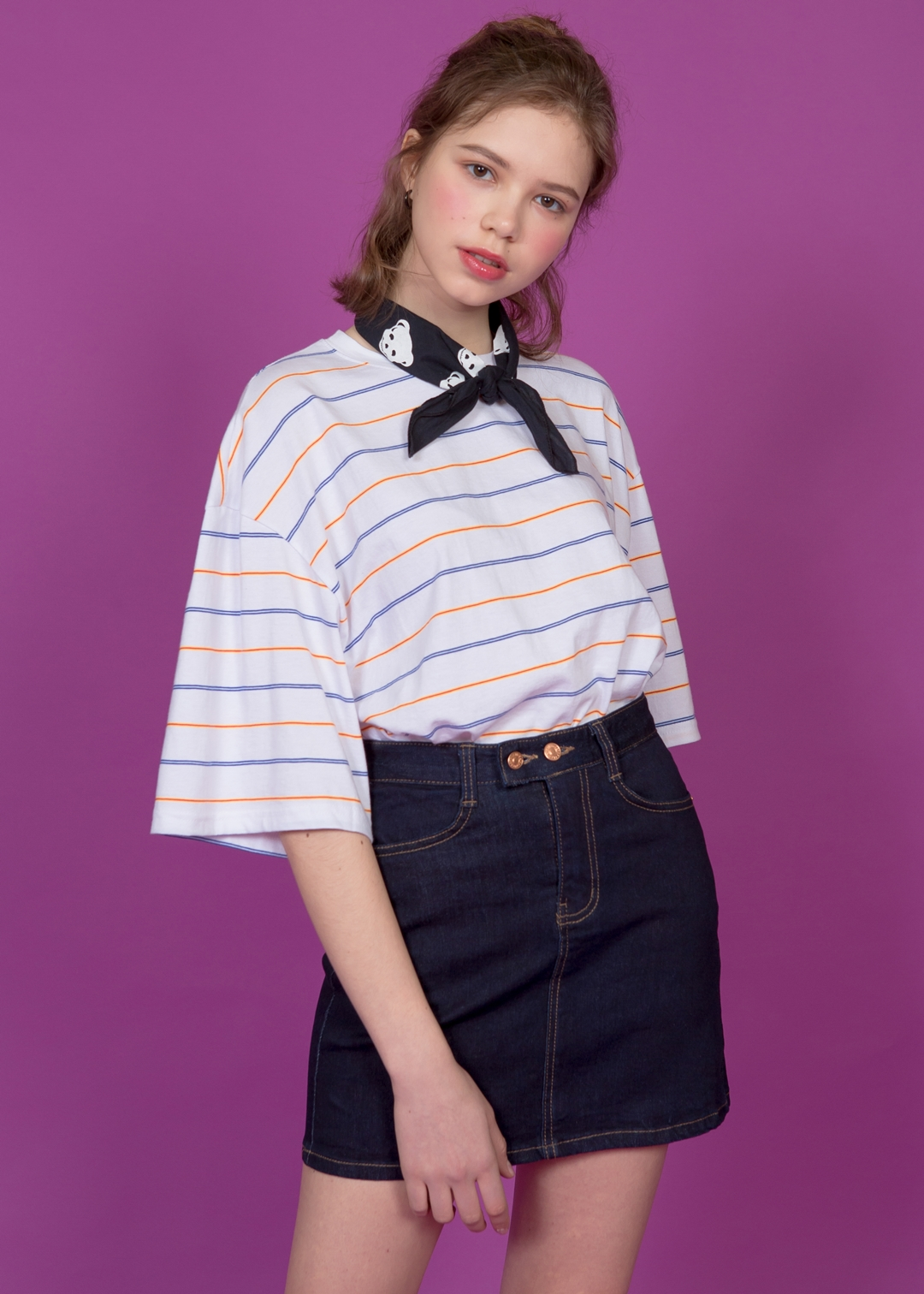 Multi-Striped Boxy Top