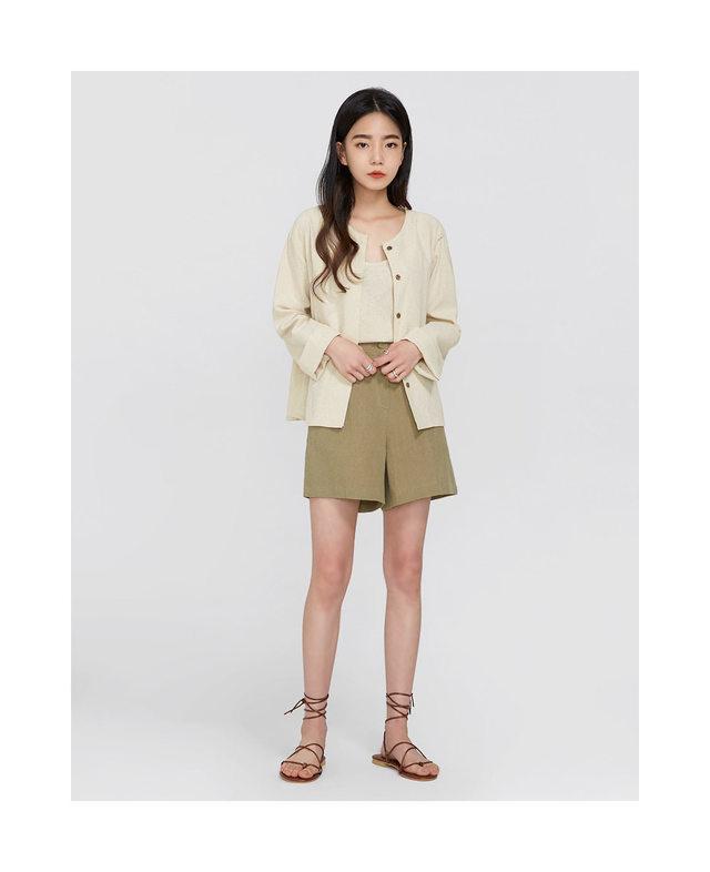 spanish linen cardigan set