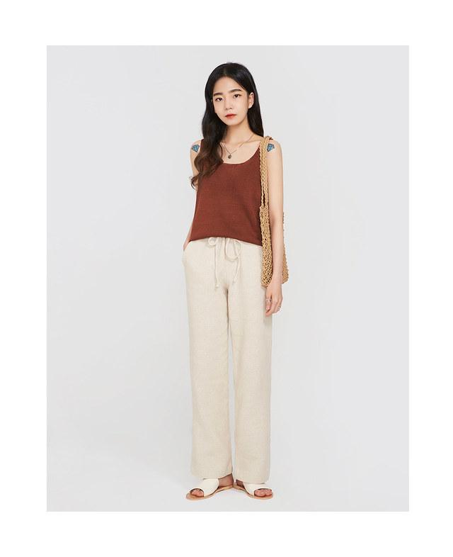 FRESH A linen banding pants
