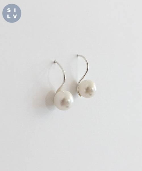 (silver925) link earring