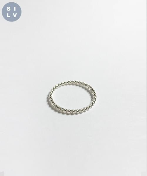(silver925) twill ring