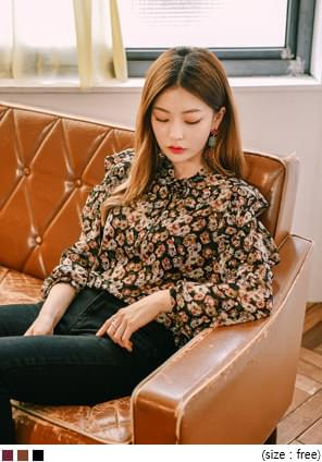 MUSE FLOWER RUFFLE BLOUSE