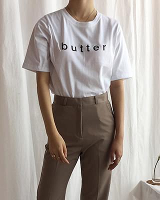 레터링 버터 반팔티 - 3color