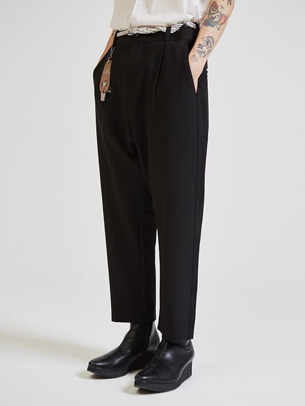 pin-tuck baggy slacks (2 color) - UNISEX