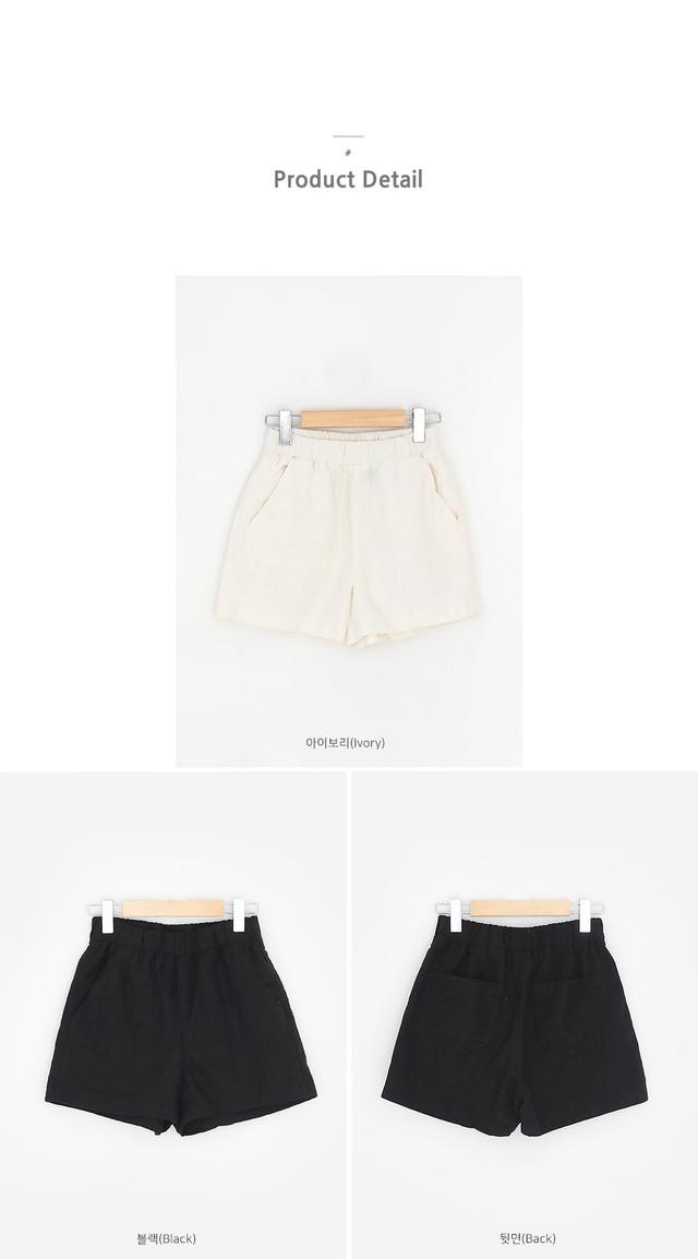 Lezan linen shorts