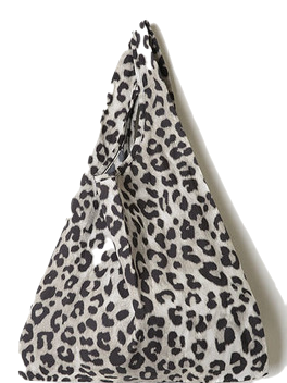 mini leopard tote bag