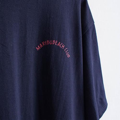 말리부 레터링 롱 티셔츠 원피스