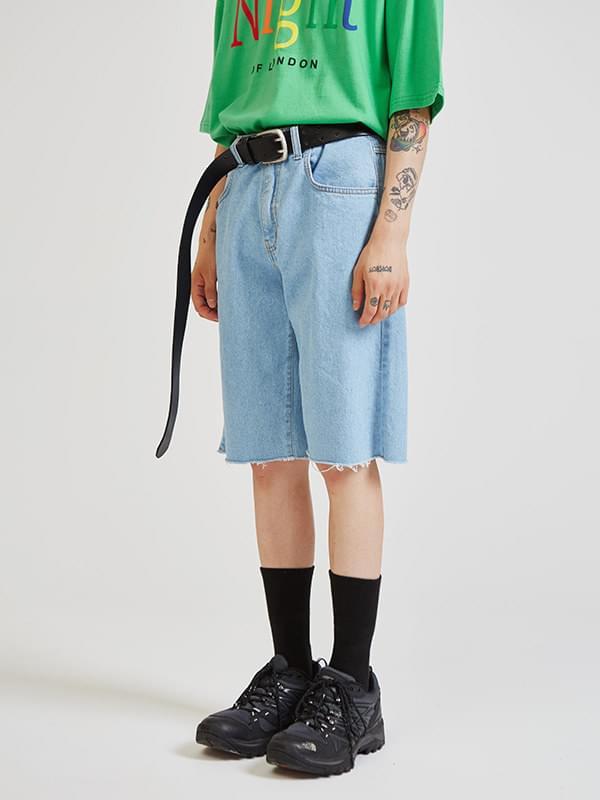 original denim half pants (2 color) - UNISEX