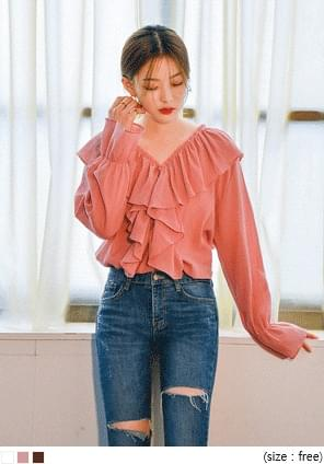 ROMANTIC FRILL POINT BLOUSE