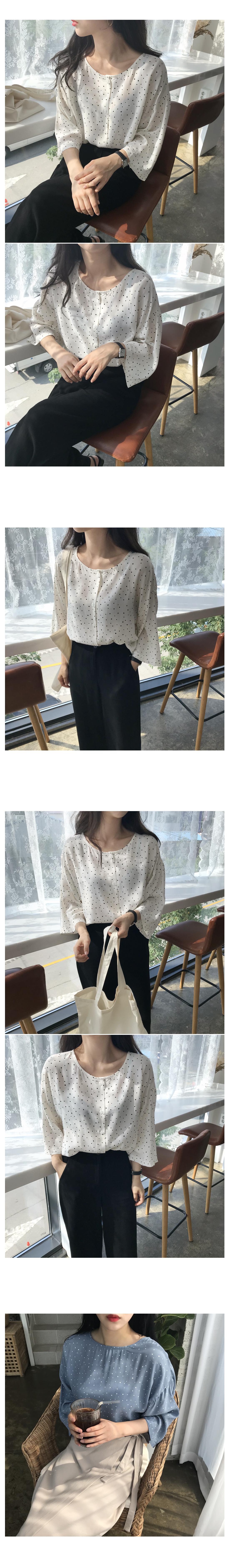 Two way dot blouse - Sora shipped same day