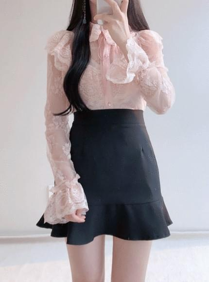 Jenny lace see-through blouse