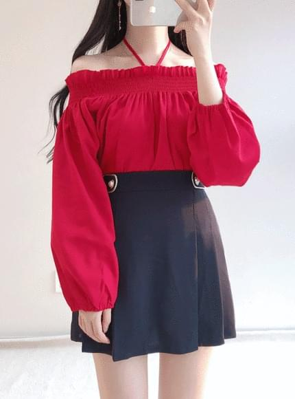 Smoke off shoulder blouse