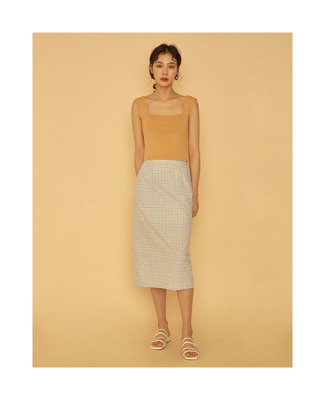 olsen check skirt (s, m)