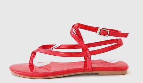 Doubt strap sandals 1cm