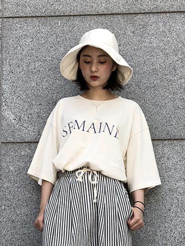 세멘 레터링 티셔츠