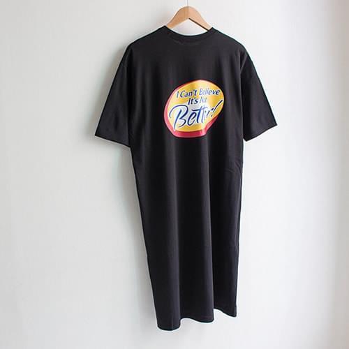 베러 레터링 롱 티셔츠 원피스