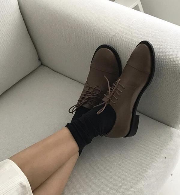 line oxford shoes (2color)