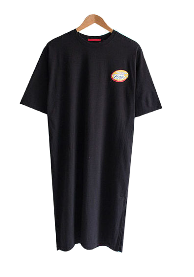 Verla Lettering Long T-shirt Dress