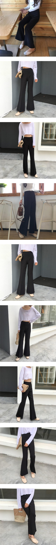 High waist boots cut slacks