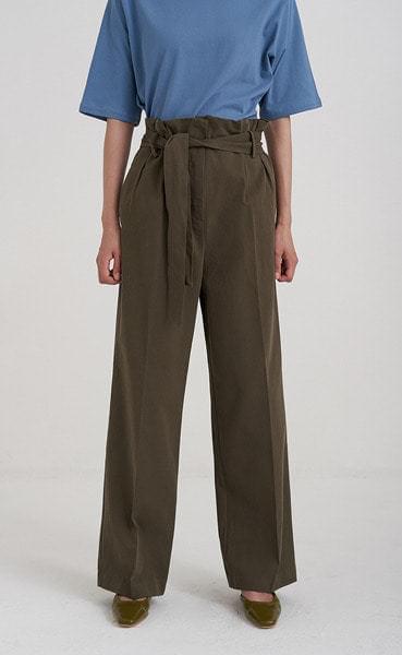 strap belt pintuck pants (3colors)