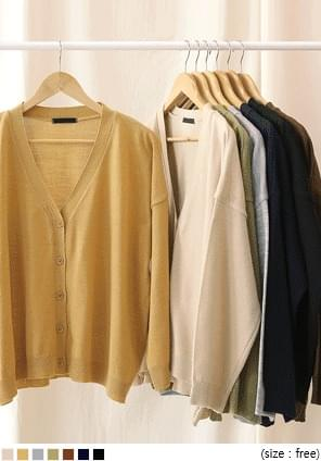 7 COLOR AMI V NECK KNIT CARDIGAN