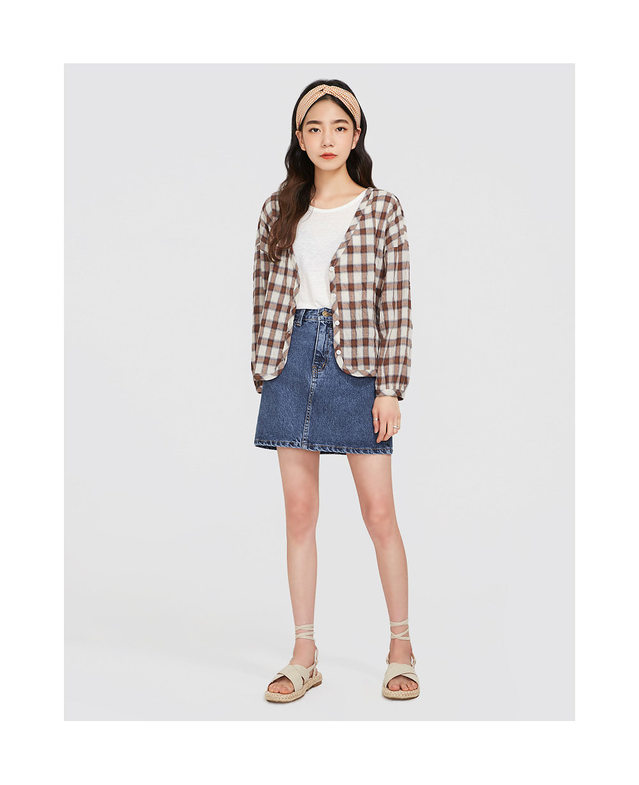 kiko check cardigan