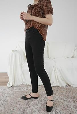 Basic line slim pants