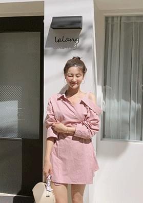 Rose Wrap - Off Shoulder Dress