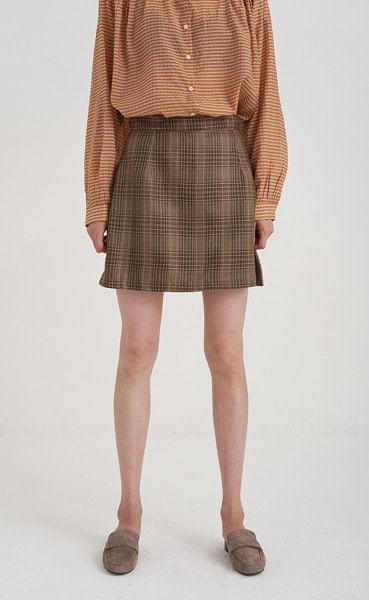 folk check mini skirt (2colors)