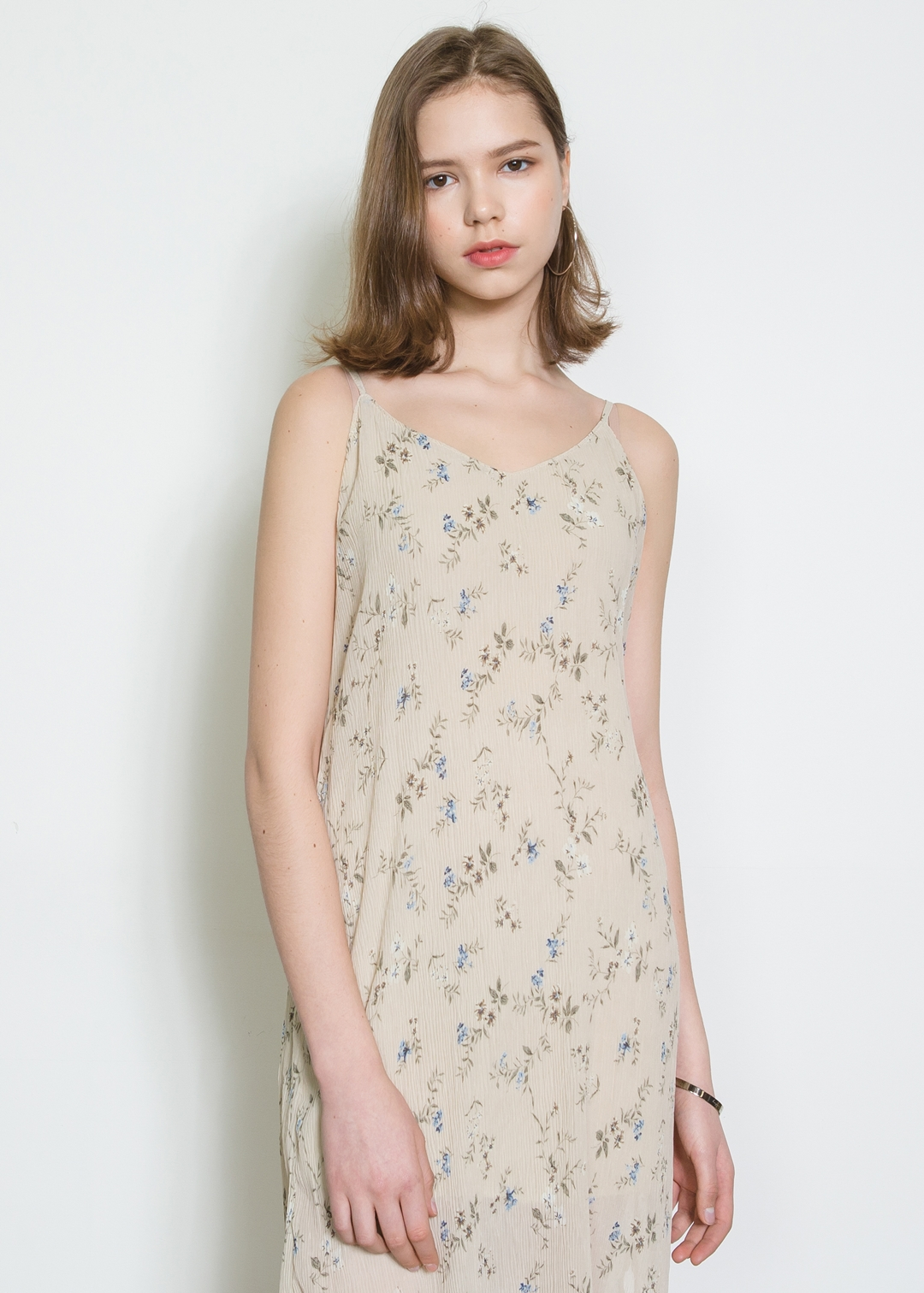 Sleeveless Flower Dress