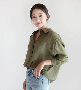 위스트 셔츠(2color)