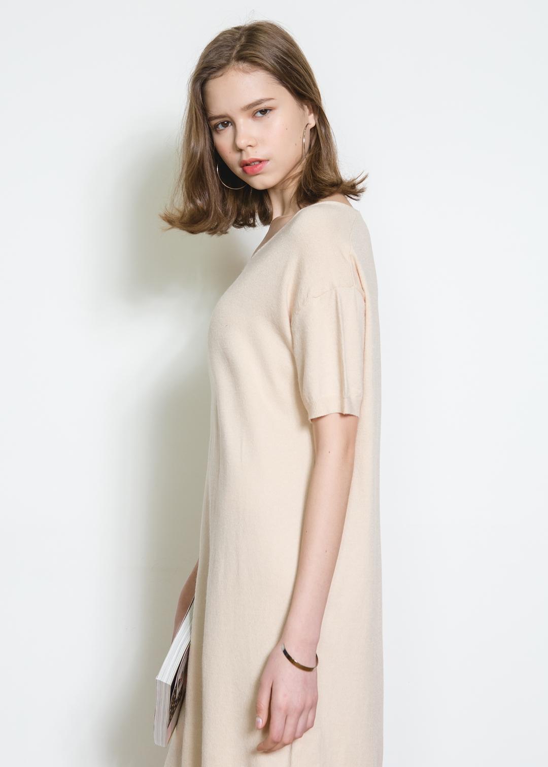 Short Sleeves Knit Dress