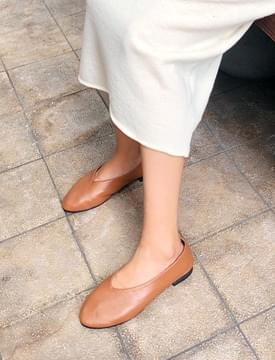 Cozy leather flat shoes_M (size : 230,235,240,245,250)