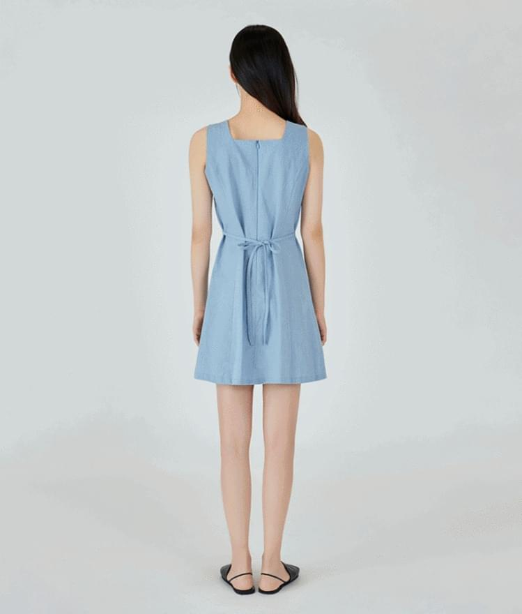Simple Linen Mini Dress