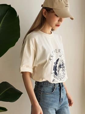 어나터 프린팅 티셔츠