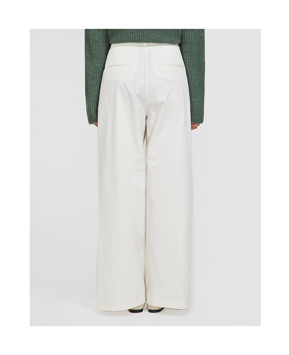 real wide cotton slacks (s, m)