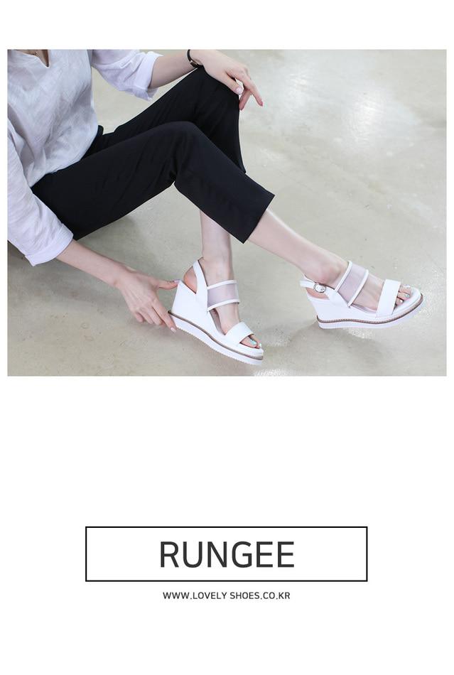 Lunge wedge sandals 9cm
