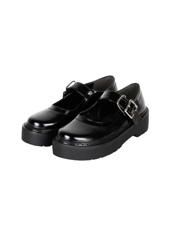 ACIDITY - PLATFORM MARY JANE SHOES (BLACK)