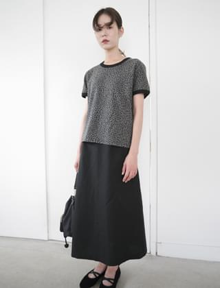 basic A line long skirt (2colors)