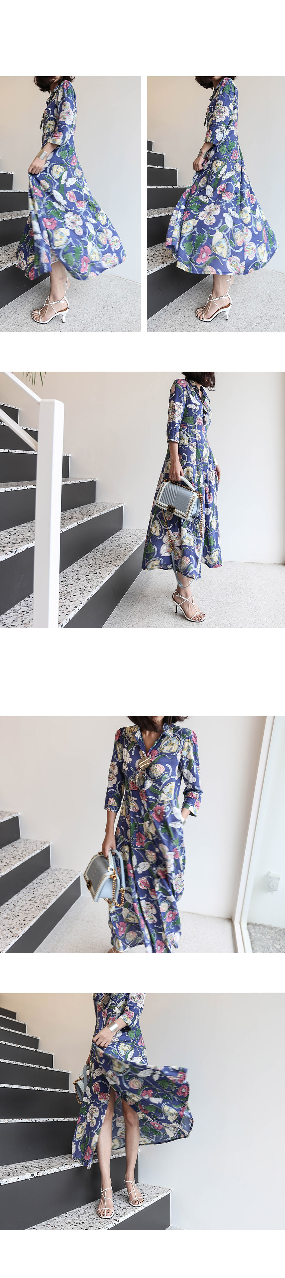 Long dress flower loofet shirt _op02551