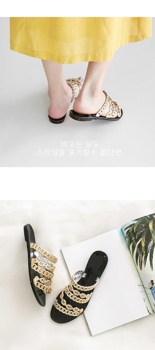 Le Mee Jelly Slippers 1.5cm